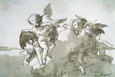 Cupids with Doves and a Torch, 17th Centruy-Giovanni Battista Tiepolo-Giclee Print