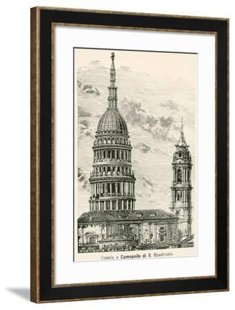 Cupola and Bell Tower of the Basilica of San Gaudenzio in Novara, Italy--Framed Giclee Print