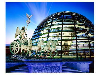 Cupola Quadriga Gate Berlin--Art Print