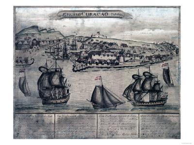 Curacao - Panoramic Map-Lantern Press-Art Print