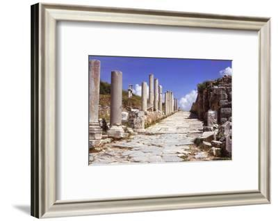 Curetes Street, leading to the State Agora, Ephesus, Turkey, 20th century-CM Dixon-Framed Photographic Print