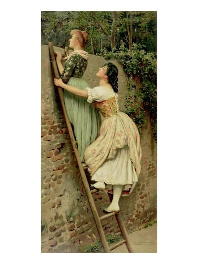Curiosity, from the Pears Annual, Christmas, 1892-Eugen Von Blaas-Giclee Print