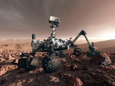 Curiosity Rover, Artwork-Detlev Van Ravenswaay-Photographic Print