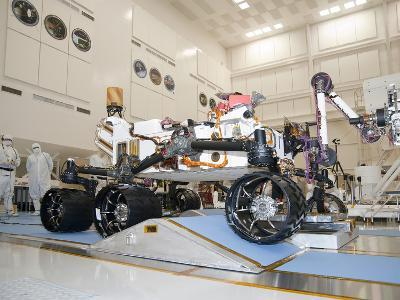 Curiosity Rover in the Testing Facility-Stocktrek Images-Photographic Print