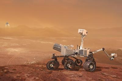 Curiosity Rover on Mars, Artwork--Photographic Print