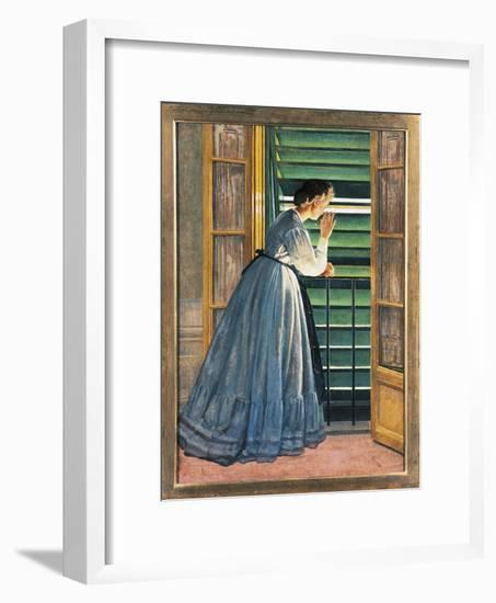 Curiosity-Silvestro Lega-Framed Giclee Print