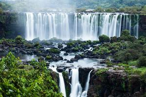 Iguassu Falls, the Largest Series of Waterfalls of the World, Located at the Brazilian and Argentin by Curioso Travel Photography