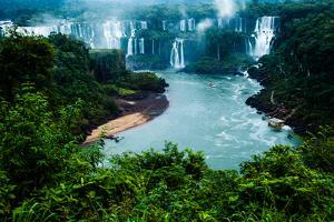 Iguassu Falls, the Largest Series of Waterfalls of the World, View from Brazilian Side by Curioso Travel Photography