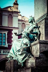 Krakow - Fragments of the Monument of Adam Mickiewicz. by Curioso Travel Photography