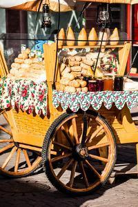 Traditional Polish Smoked Cheese Oscypek on Outdoor Market in Zakopane by Curioso Travel Photography