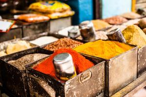 Traditional Spices Market in India. by Curioso Travel Photography