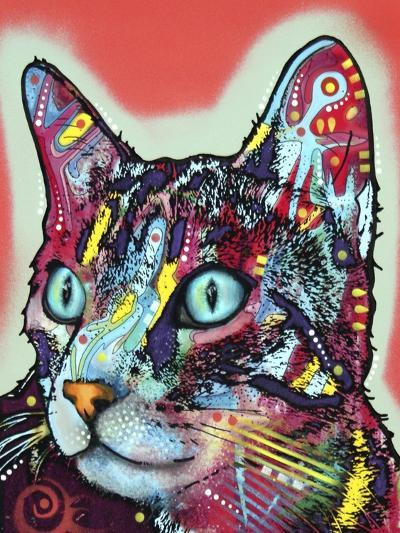 Curious Cat-Dean Russo-Giclee Print