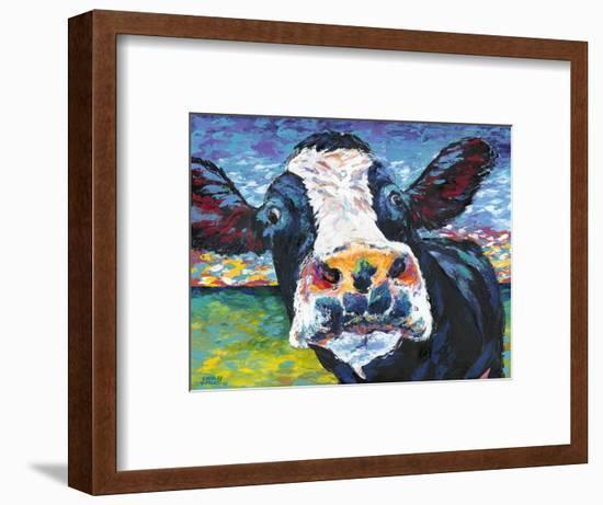 Curious Cow II-Carolee Vitaletti-Framed Art Print