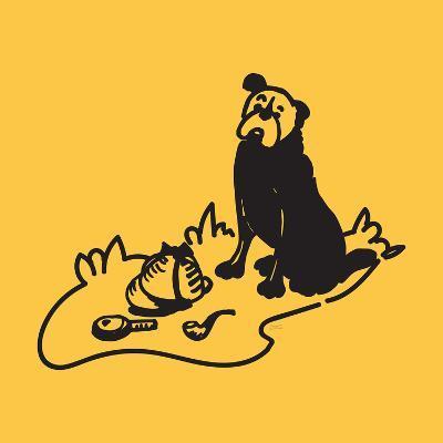 Curious Hound Of Baskervilles-NDTank-Art Print