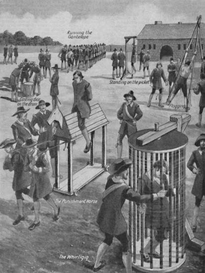 'Curious Old-Time Military Punishments', c1934-Unknown-Giclee Print