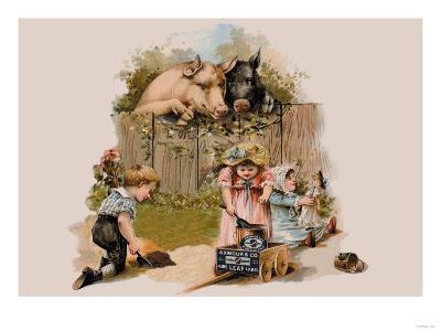 Curious Pigs--Art Print