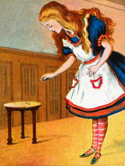 'Curiouser and curiouser, cried Alice', c1900-Unknown-Giclee Print