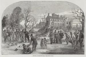 Curling, at Croxteth Hall