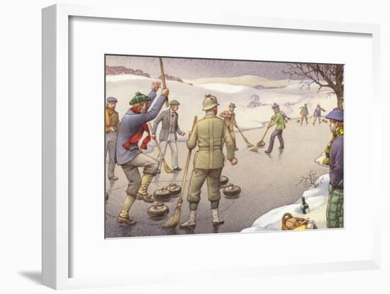 Curling in Scotland-Pat Nicolle-Framed Giclee Print