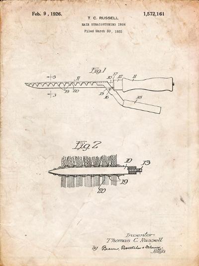 Curling Iron 1925 Patent-Cole Borders-Art Print