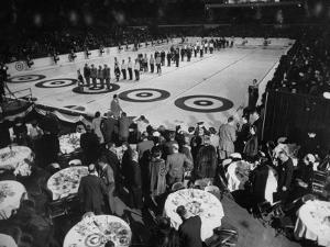 Curling Party Being Given before the Opening of First US Men's National Championships