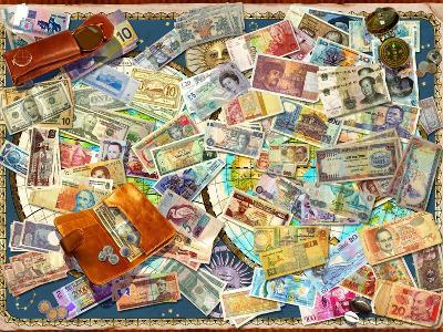 Currency Map (Variant 1)-Garry Walton-Art Print