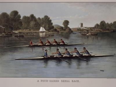 A Four-Oared Shell Race by Currier & Ives