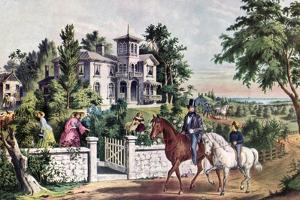 American Country Life, May Morning, 1855 by Currier & Ives