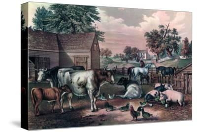 American Farm Yard in the Evening, 1857