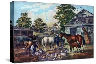 American Farm Yard in the Morning, 1857