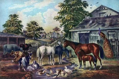 American Farm Yard in the Morning, 1857