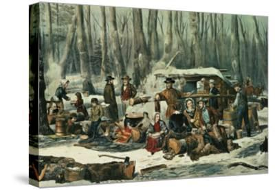 American Forest Scene, Maple Sugaring, 1856