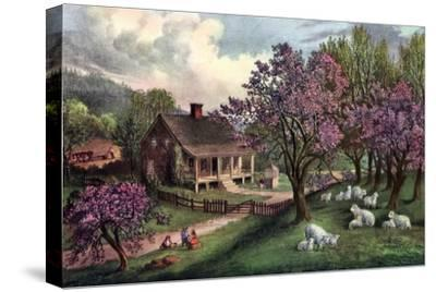 American Homestead in Spring, 1869