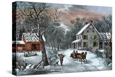 American Homestead in Winter, 1868