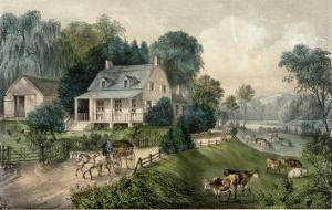 American Homestead Summer by Currier & Ives