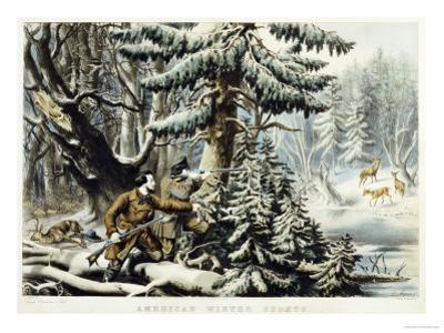 American Winter Sports, Deer Shooting On the Shattagee, 1855