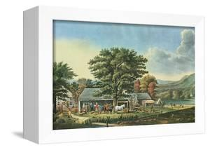 Autumn in New England - Cider Making, 1866 by Currier & Ives