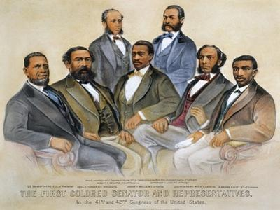 Black Senators, 1872 by Currier & Ives