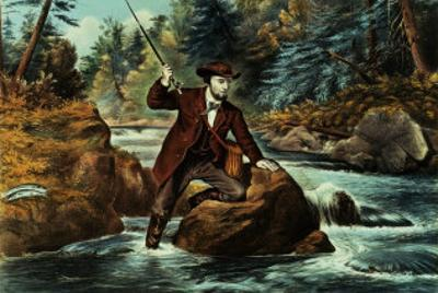 Brook Trout Fishing, an Anxious Moment, 1862