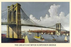 Brooklyn Bridge by Currier & Ives