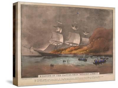 Burning of the Clipper Ship, 'Golden Light'
