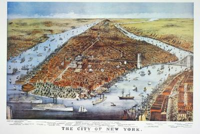 City of New York, 1876 by Currier & Ives