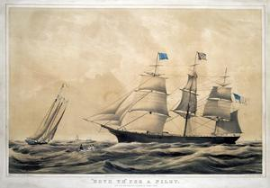 Clipper Ship 'Adelaide' by Currier & Ives
