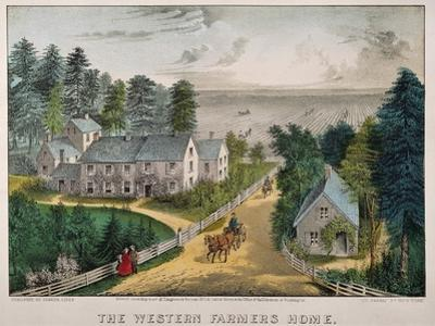 Currier and Ives: Farm House