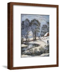 Currier & Ives: Winter Moonlight by Currier & Ives
