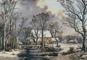 Currier & Ives: Winter Scene by Currier & Ives
