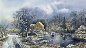 Early Winter, 1869 by Currier & Ives