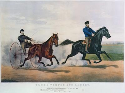 Flora Temple and Lancet Racing on the Centreville Course, 1856
