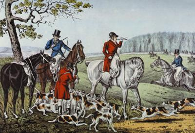 Fox Hunt by Currier & Ives
