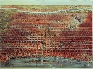 General View of Philadelphia, 1875 by Currier & Ives